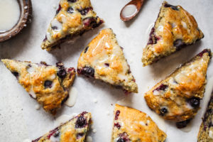 Mini Blueberry Buttermilk Biscuit Scones