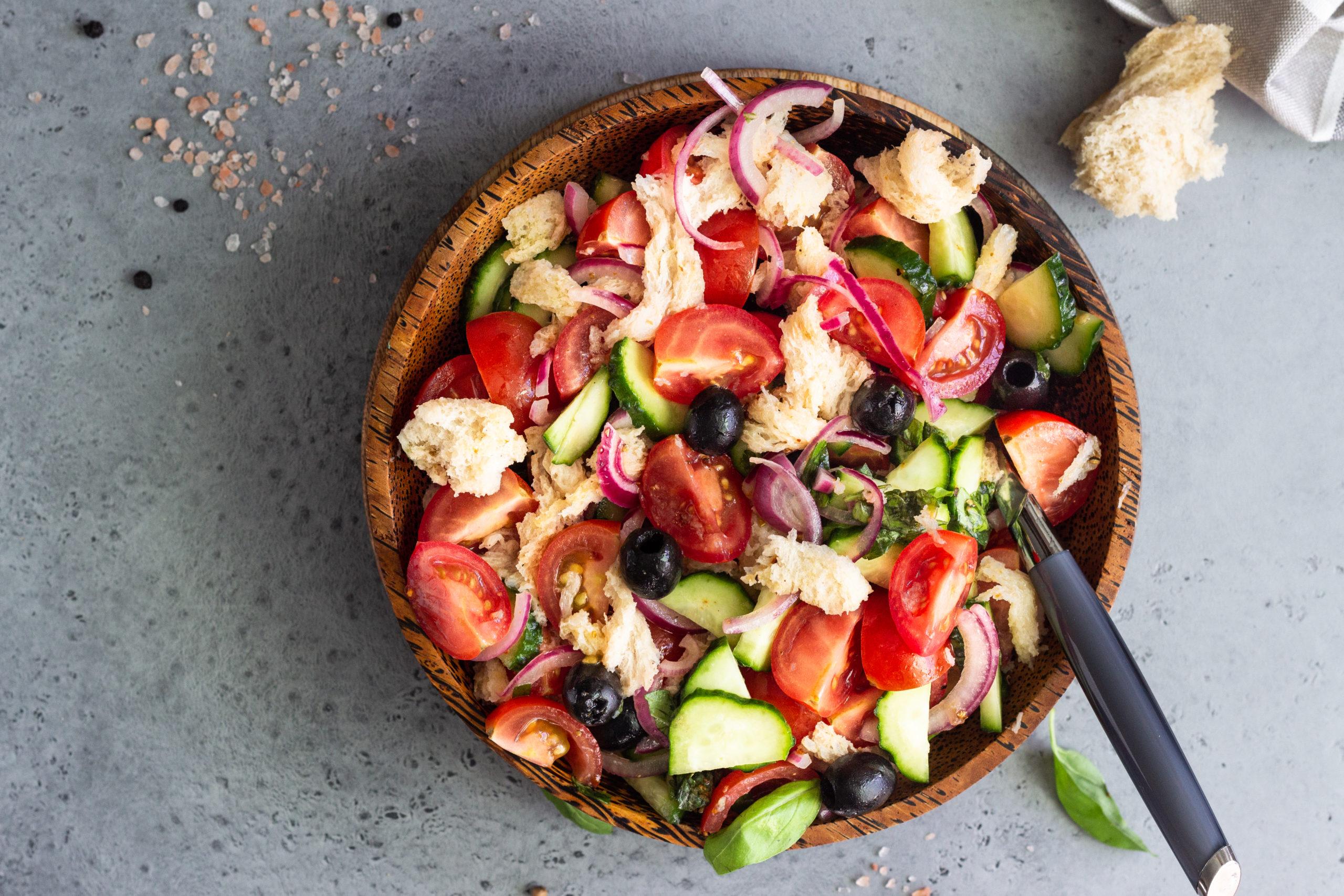Buttermilk Biscuit Panzanella Salad