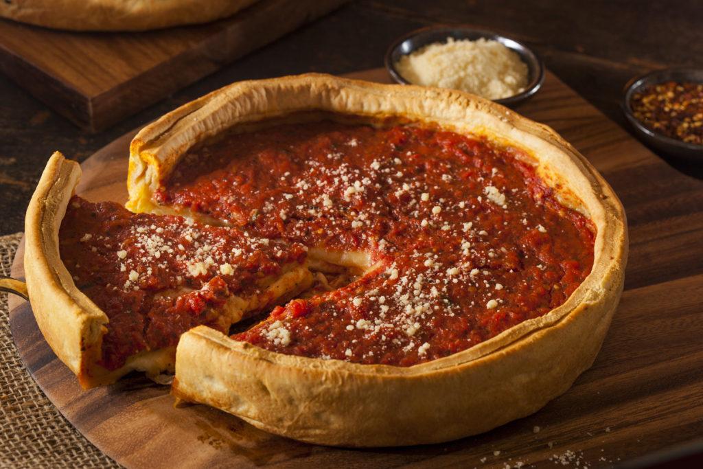 Deep Dish Buttermilk Biscuit Pizza