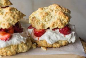 Strawberry Buttermilk Biscuit Shortcakes
